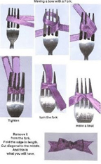 how to make a nice bow using a fork