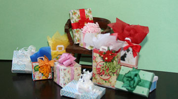 photo of assemlbled gift bags