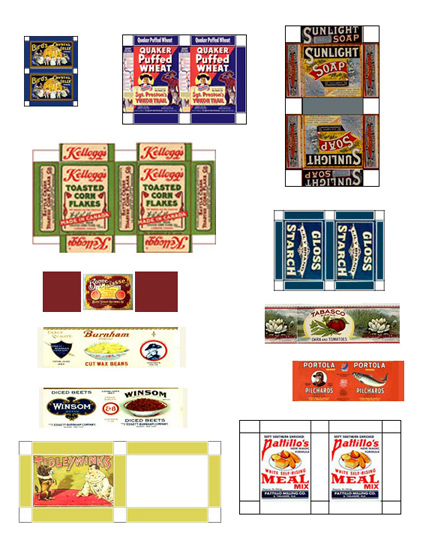 dollhouse miniature printables food boxes