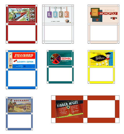 fullpage of games printables