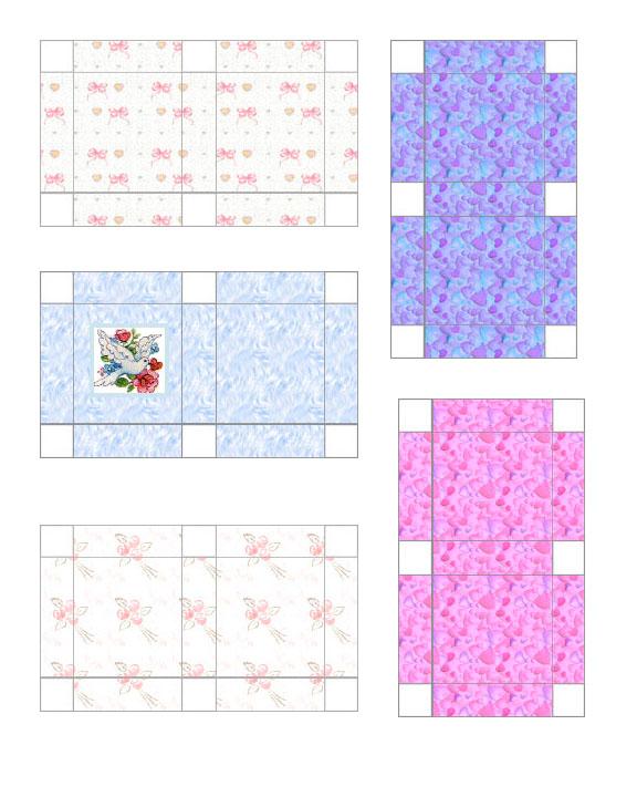 Flat rectangular gift boxes wedding flat4 large printable gift bags negle Images