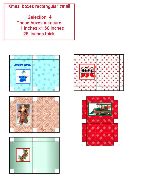 Printable Dollhouse Size Magazine 1960 Era: Free Dollhouse Printable Miniature Gift Boxes
