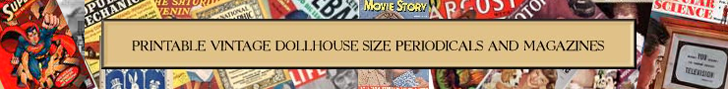 dollhouse printables magazines banner