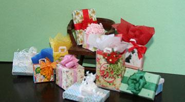 Dollhouse size, Miniature Christmas Present//Gift