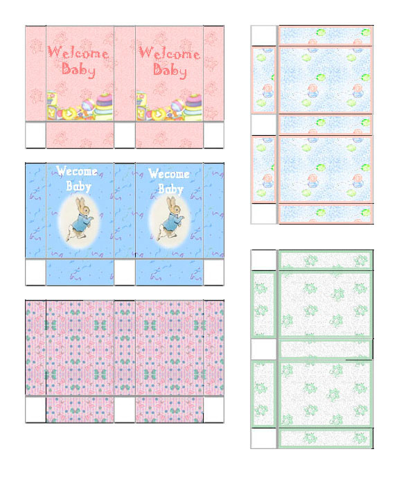 Dollhouse Printable Boxes: Miniature 1/12th Scale Dollhouse Gift Bags